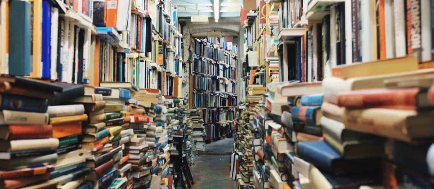 bookstore with thousands of books