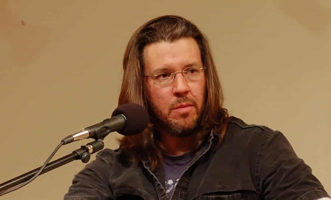 David Foster Wallace at a podium