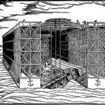 px Floating Dock Woodcut included in the Descrittione of Venice