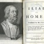 Homer composes epic poems The Iliad and The Odyssey