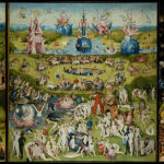 "Hieronymus Bosch paints ""The Garden of Earthly Delights"""