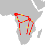 The Bantu expansion spreads across sub-Saharan Africa