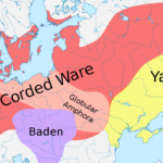By File:Corded Ware culture.png : User:Dbachmann (2005)File:Europe laea location map.svg : User:Alexrk2derivative work : User:Sir Henry - File:Corded Ware culture.pngFile:Europe laea location map.svg, CC BY-SA 3.0, https://commons.wikimedia.org/w/index.php?curid=26206705