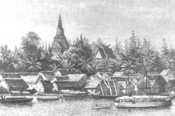 Phnom Penh from east drawn in