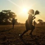 Silhouettes of people in Zambia
