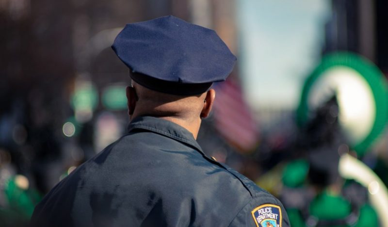 Police officer from behind