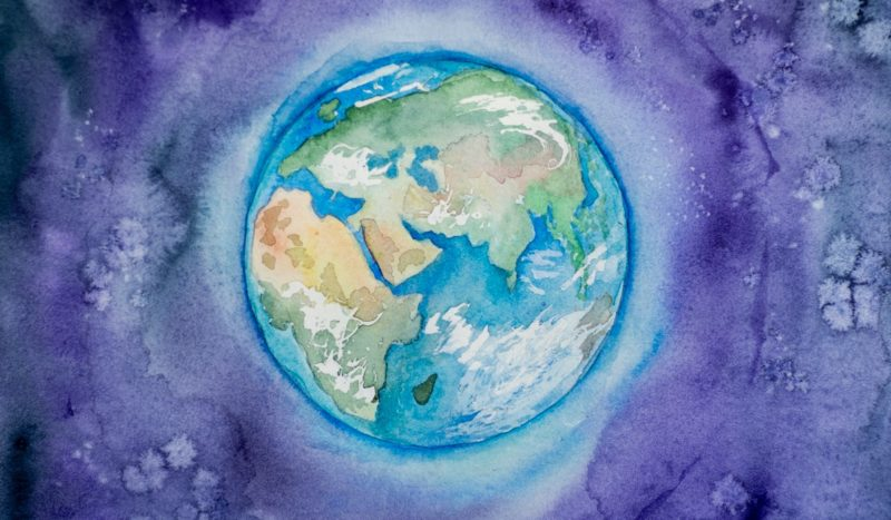 Drawing of Earth