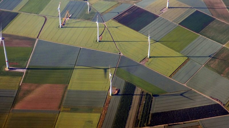 Wind turbines from above
