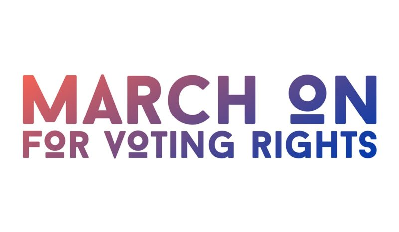 March on Voting Rights logo