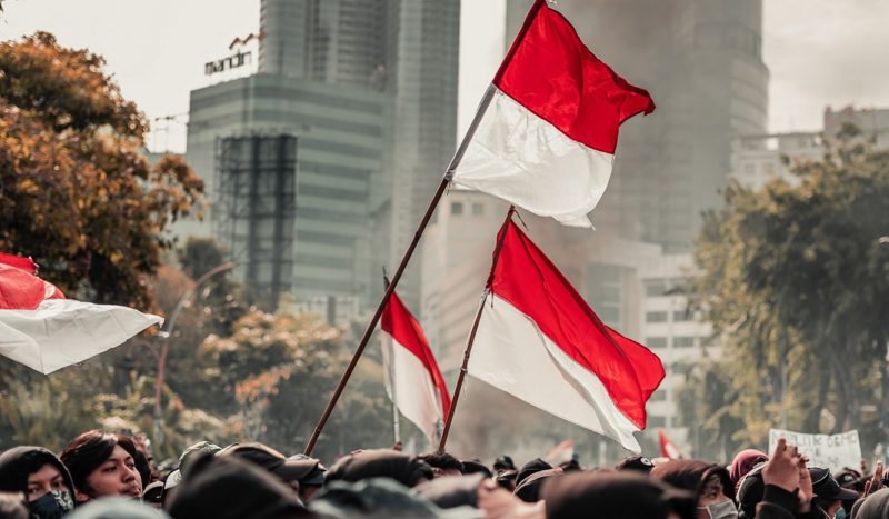 Indonesian flags