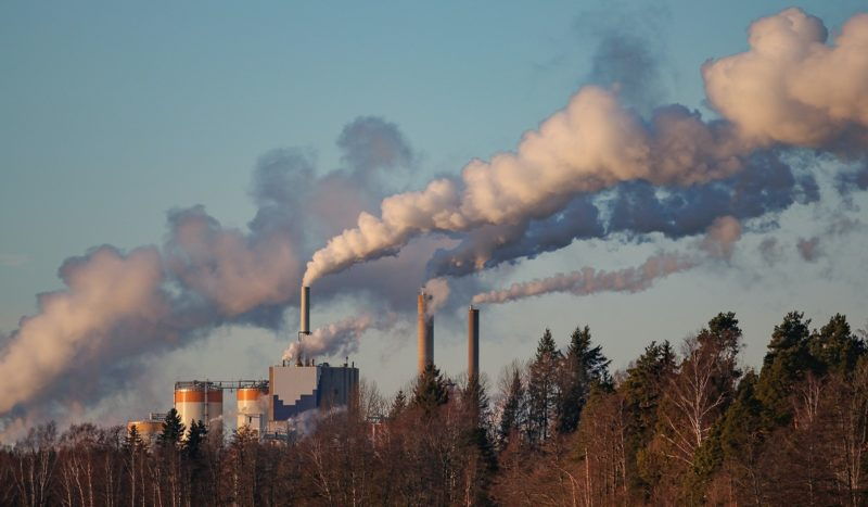 Polluting industrial facility